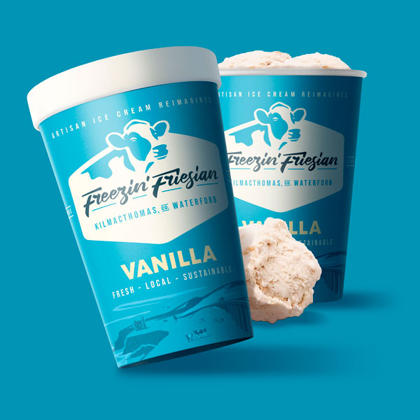 Freezin Friesan packaging design