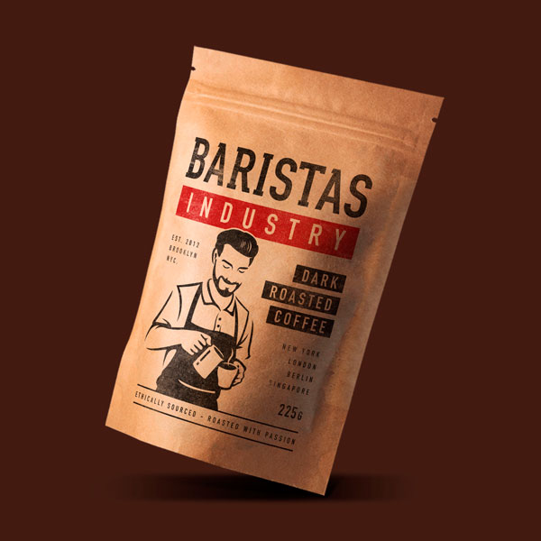 Barista industry beer packaging design