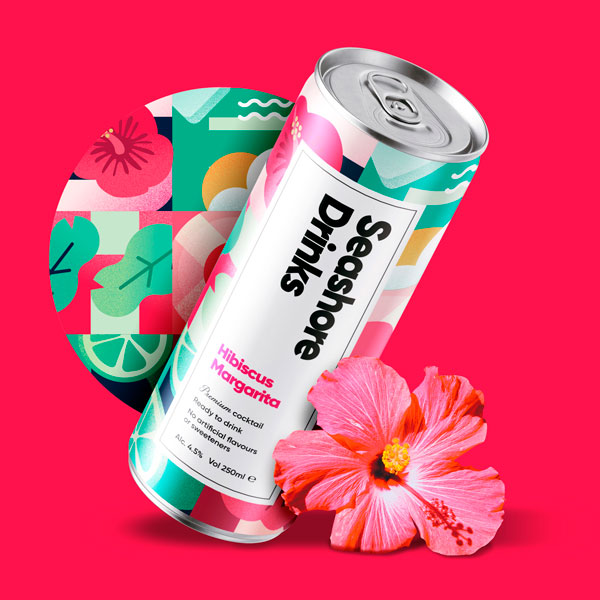 Seashore Beverage Packaging Design