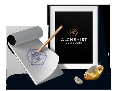 Alchemist Jewellers Logo Design by DesignBro