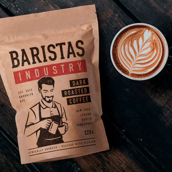 Baristas Roasted Coffee Packaging Design