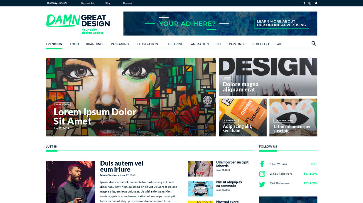 Designing Brand Website Design