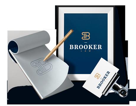 Brooker Law Firm Logo Design by Designbro