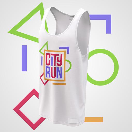 Cool T-shirt Design for City Run