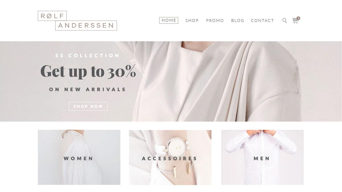 Rolf Anderssen eCommerce Website Design