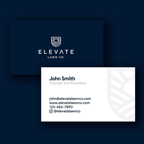 Elevate Lawn Co Business Card Design