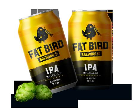 Custom Beer Logo Design - Fatbird Brewery