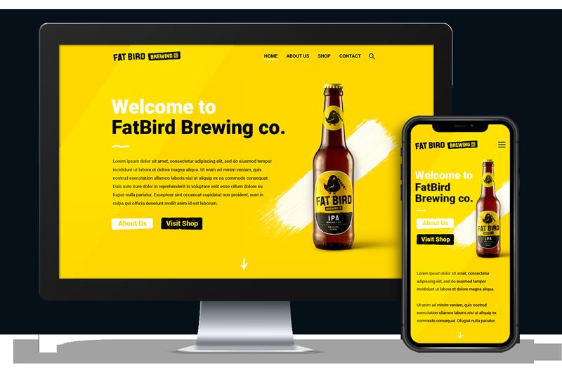 Creative Website Design of Fatbird Brewery