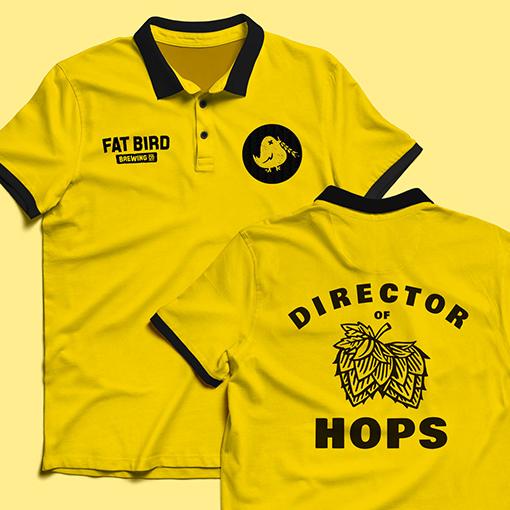 Custom T-shirt Design for Fat Bird Brewery