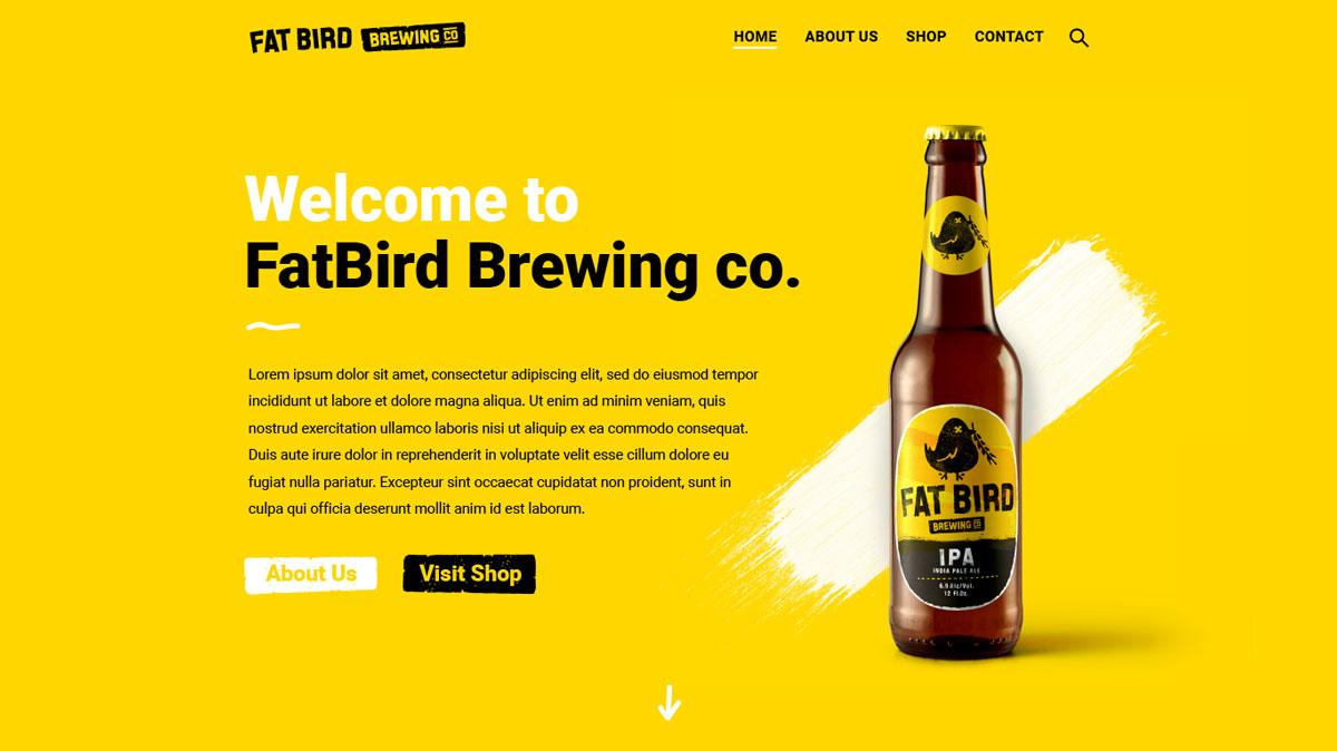 Fatbird Brewery Website Design