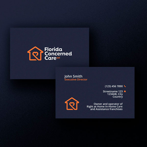 Florida Concerned Care Business Card Design