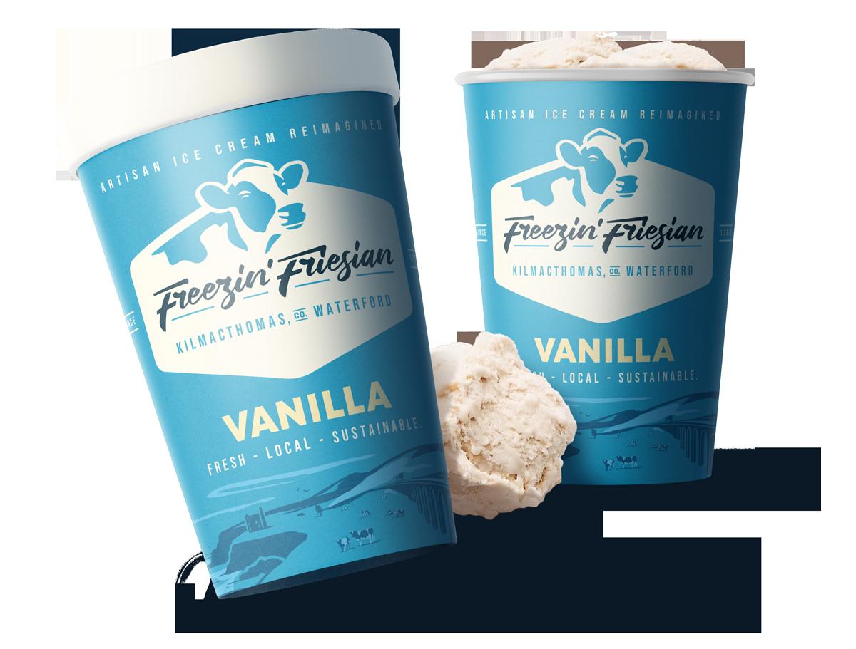 Freezin Friesian Packaging Design