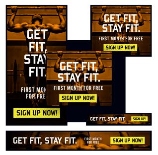 Get Fit Website Banner Design