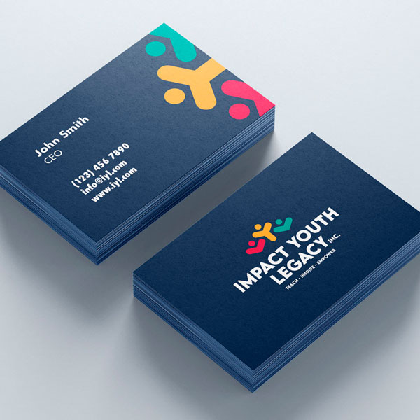 Impact Youth Legacy Business Card Design