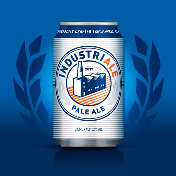 Industriale Beer Can Packaging Design