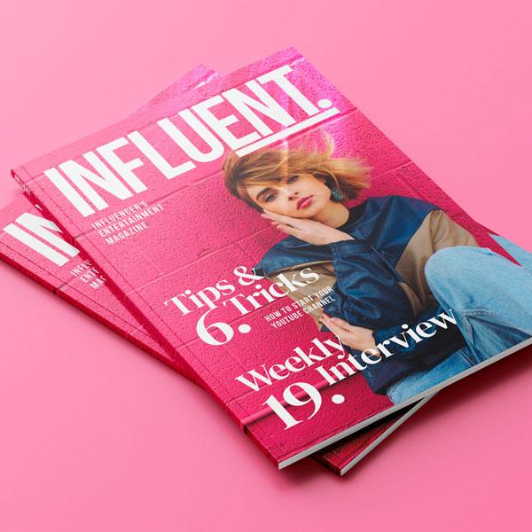 Influent Magazine Cover Design