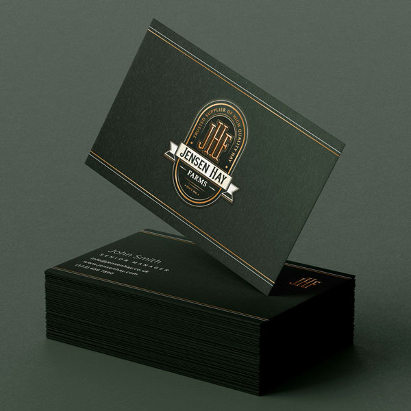 Jensen Hay Farms Business Card Design