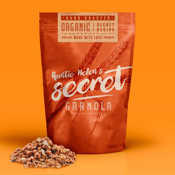 Secret Granola Food Packaging Design