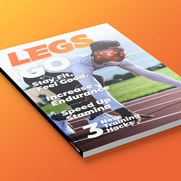 Legs Go Magazine Cover Design
