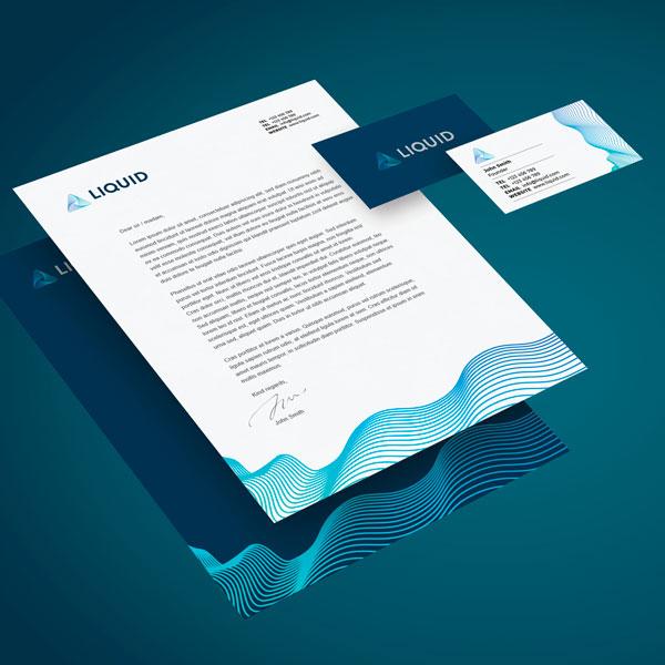 Liquid Brand Identity Designing
