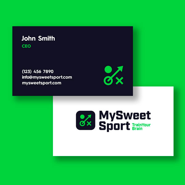 My Sweet Sport Business Card Design