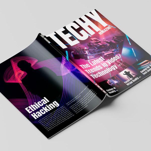 Techy Magazine Cover Design