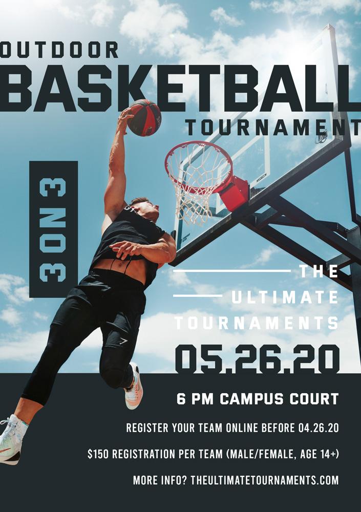 Outdoor and Indoor Sports Tournament Poster Design