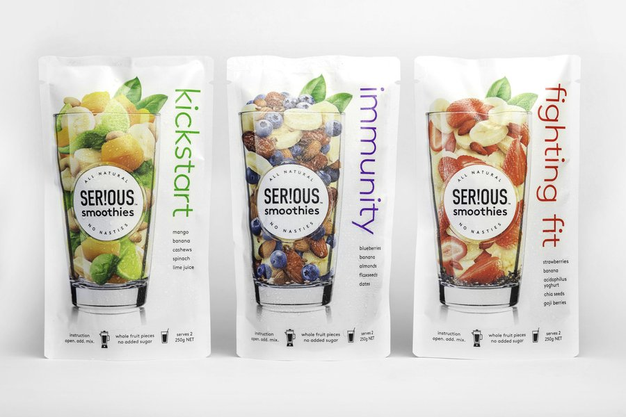 smoothies food packaging designs