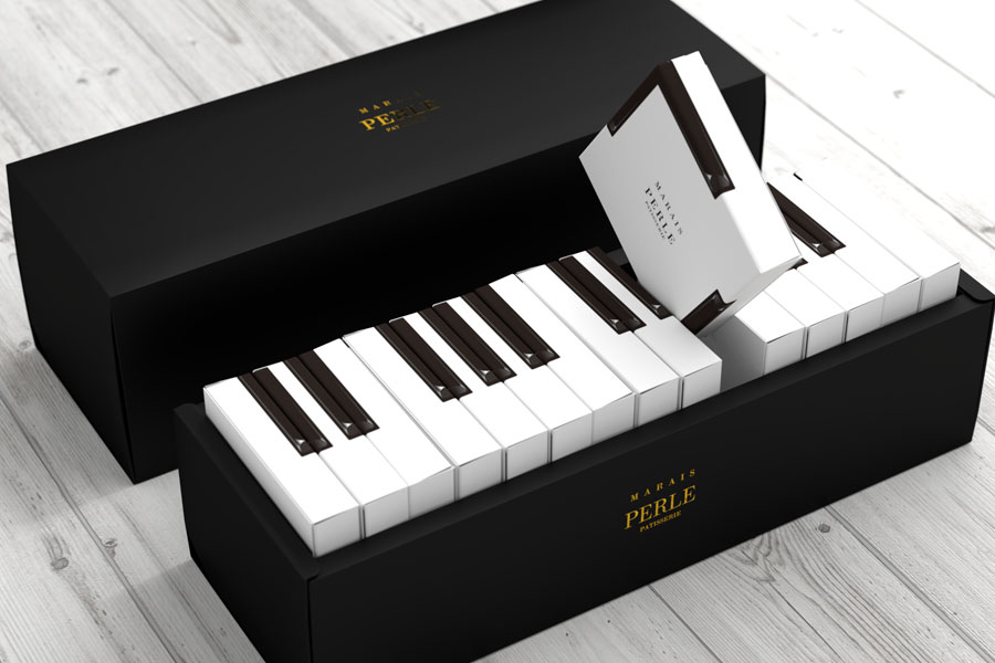 piano food packaging design