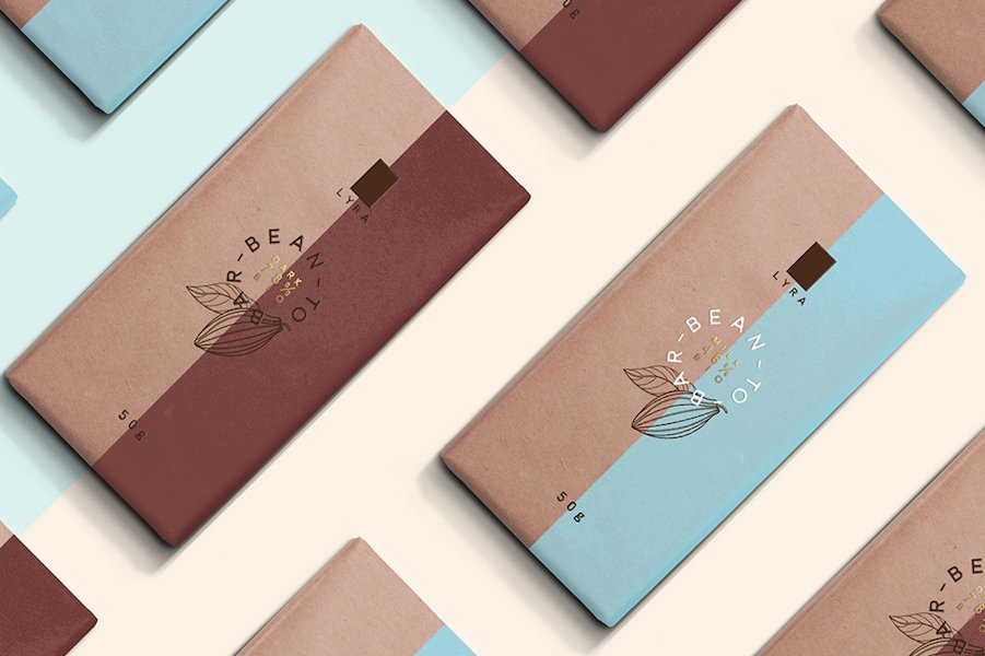 chocolate bar food packaging design