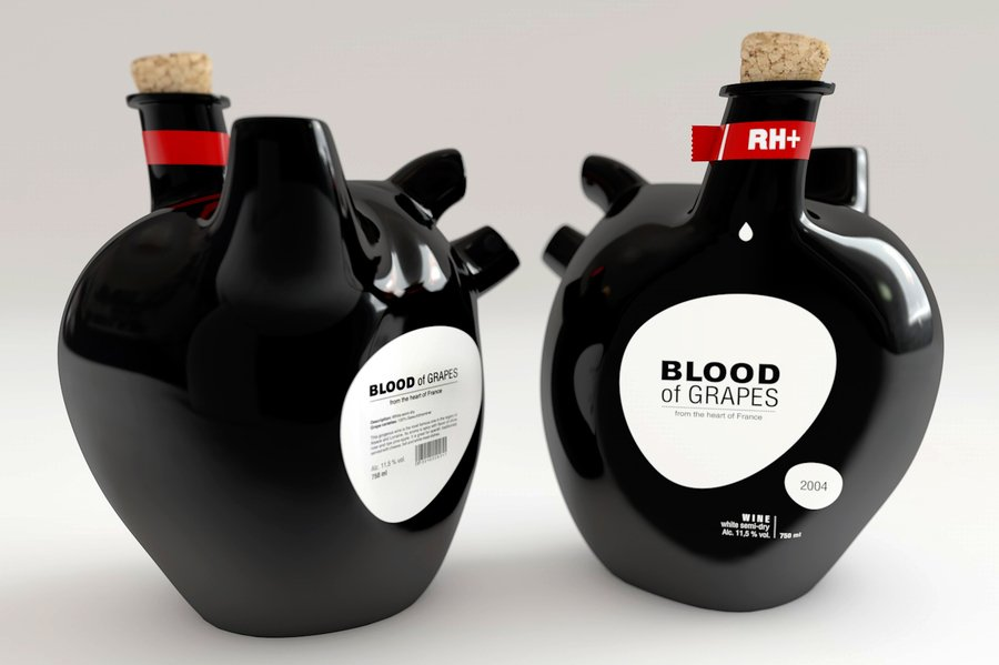 Blood of Grapes food packaging designs
