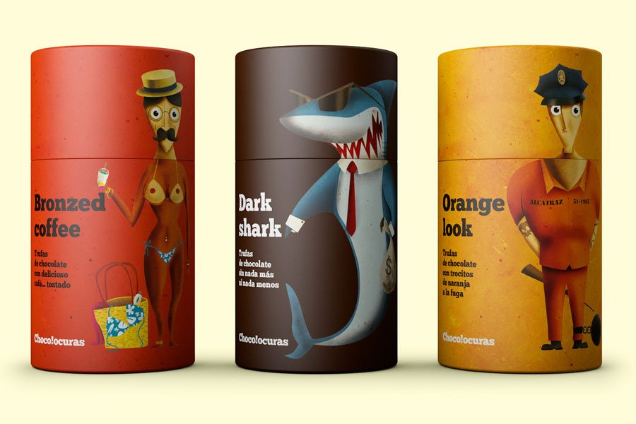 Chocolocuras food packaging designs