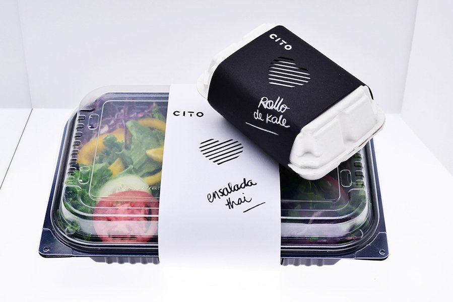salate food packaging design