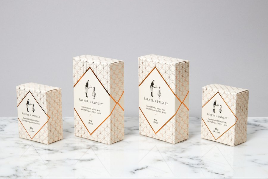 Parker and paisle food packaging designs