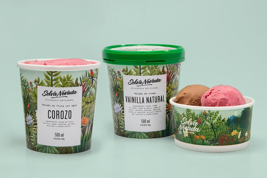 ice cream food packaging design