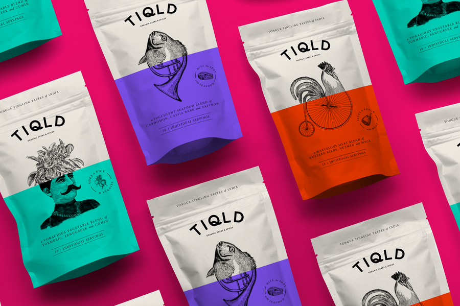 Tiqld food packaging designs