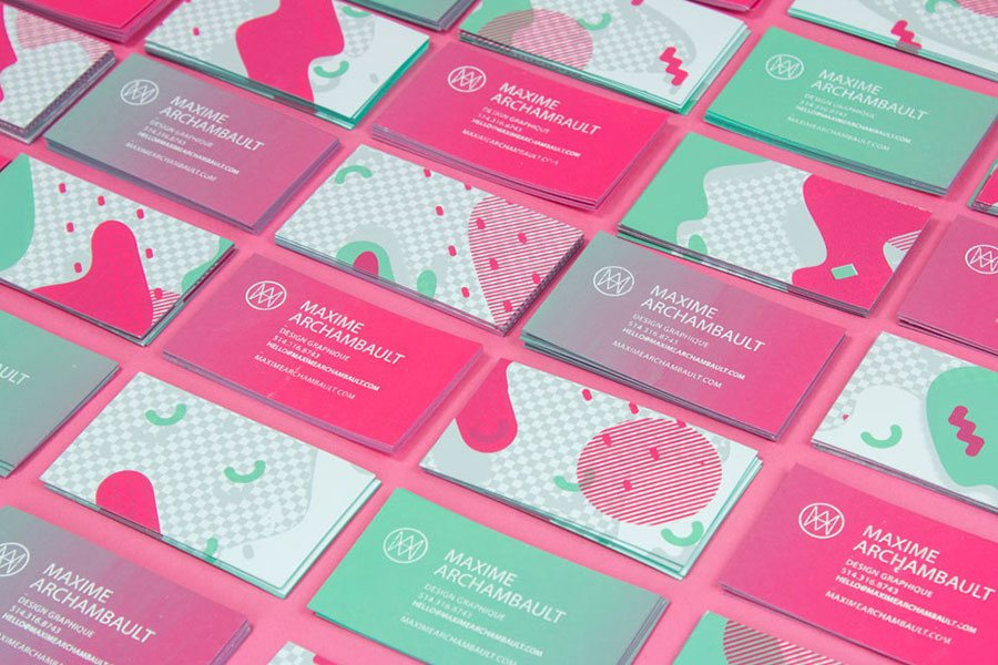 bright unique business cards design