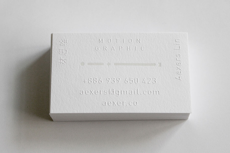 motion graphic business cards design