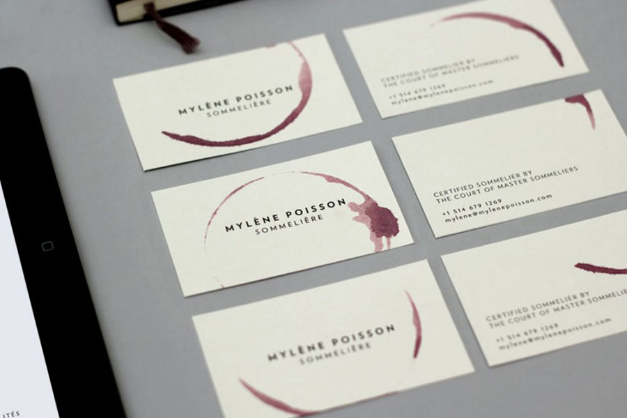 sommeliere business cards design