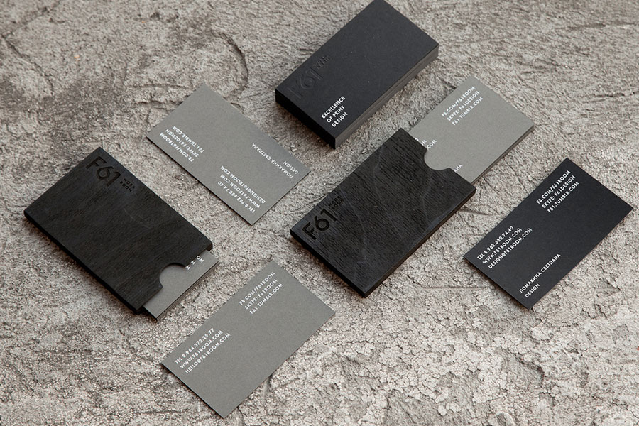 grey business cards design