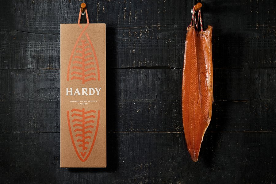 hardy salmon food packaging design