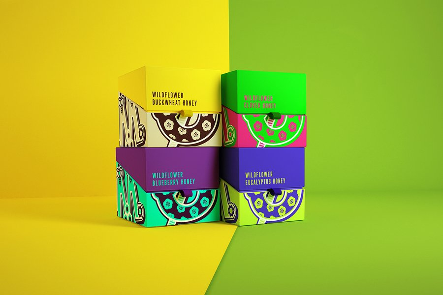 honey food packaging design