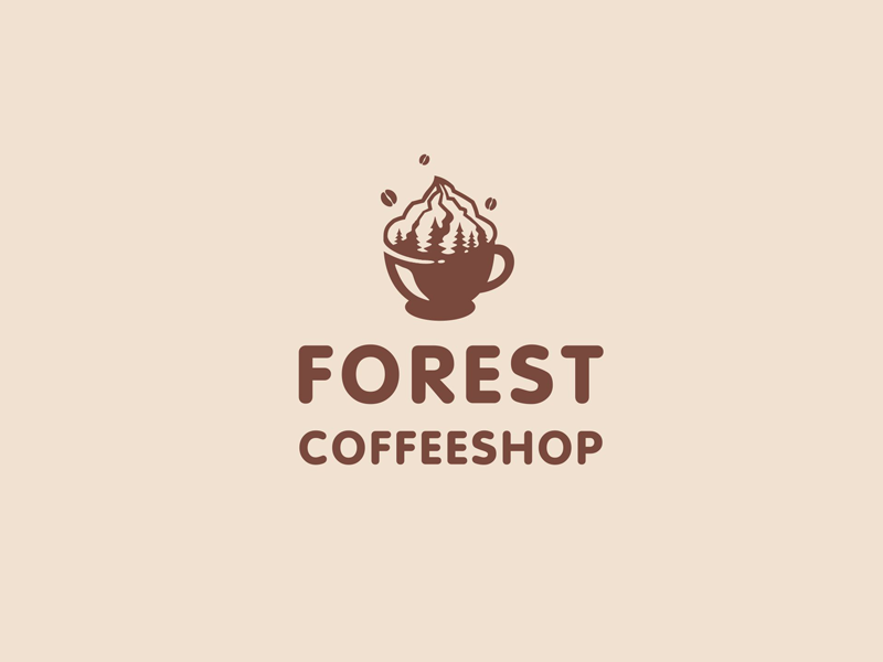 Best Coffee Shop Logo - Forest Coffeeshop