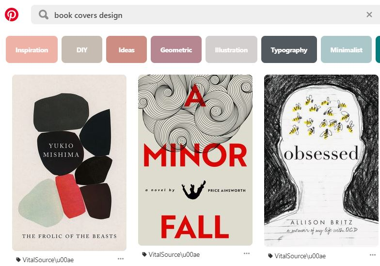 Pinterest Book Cover Design