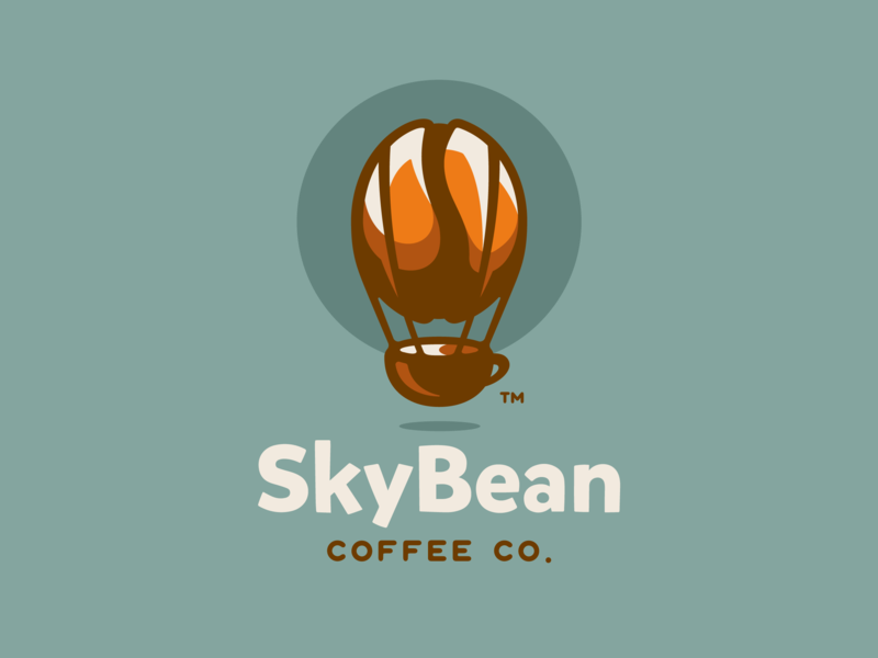 Best Coffee Shop Logo - SkyBean Coffee Co.