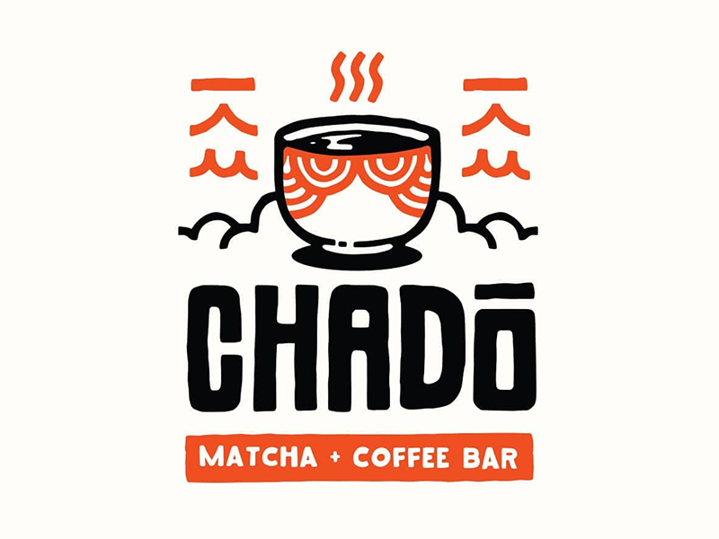 Best Coffee Shop Logo - Chado Matcha Coffee Bar