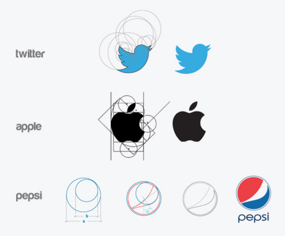 Logo design using Golden Ratio